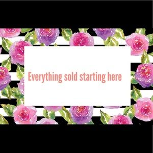 Starting here items are sold 💕